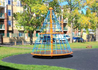 2000-days-Calgary-school-outdoor-space-with-childrens-ribbon