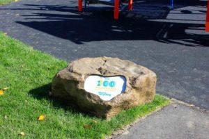 stone with logo Daycare Calgary